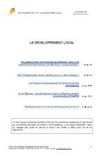 Thème n°1 : Le développement local