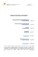 Thème n°2 : Agents de développement